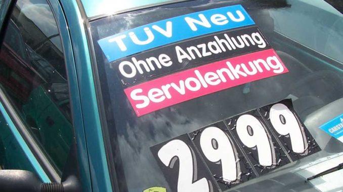 Gebrauchtwagenhandel: Dellen, Kratzer, Schrammen / Foto: © Rüdiger v. Schönfels